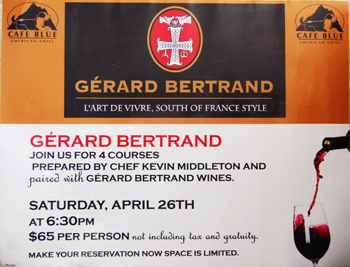 Gerard Bertrand Wine Dinner